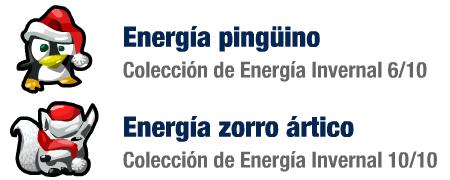 Colección de Energía Invernal, pingüino y zorro ártico