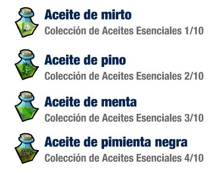 Aceites Esenciales de mirto, pino, menta y pimienta negra